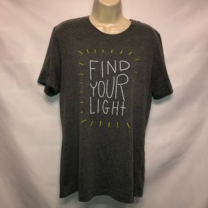 Canvas 'Find Your Light' Grey Heather T-Shirt